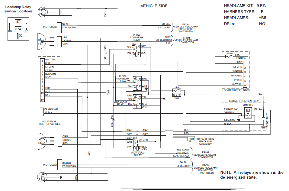 hb5 harness snow plow wiring diagram diagram wiring diagrams for diy car repairs meyer plow wiring harness at n-0.co