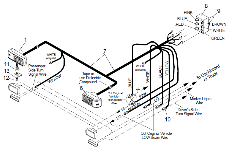 Meyers Snow Plow Wiring Diagram Light