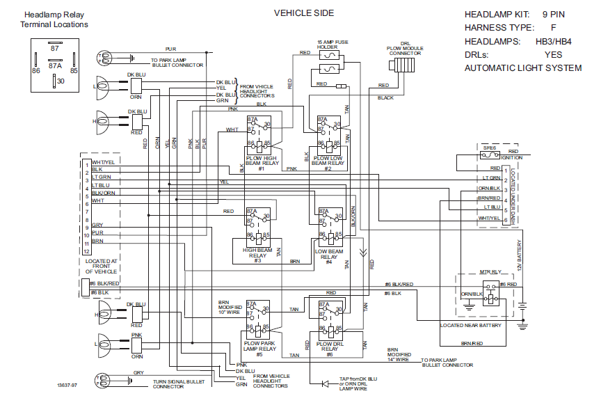relay wiring snow way plow wiring diagram snow plow hydraulic system diagram SnowDogg Plow Wiring Diagram at bayanpartner.co