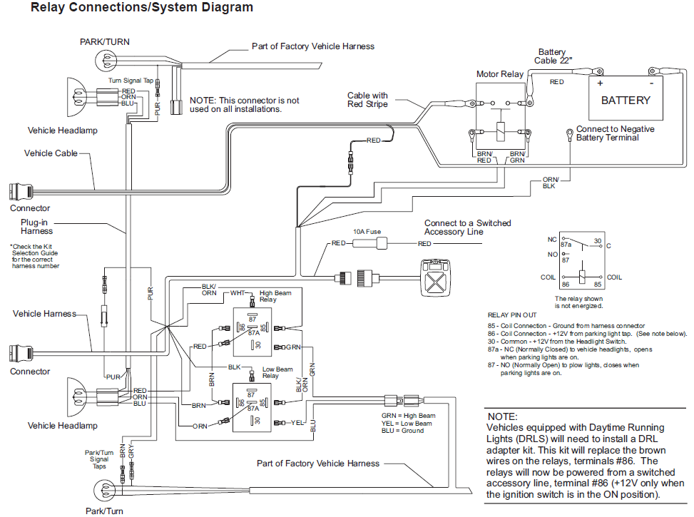 Western Unimount Wiring Diagram Ford : Plows diagram snow wiring western  control
