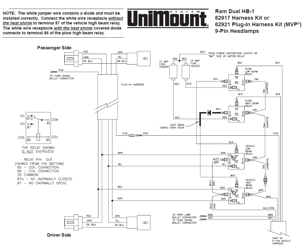 1995 International Wiring Diagram Content Resource Of Trucks Diagrams 62917 Western Unimount Hb 1 Headlight Harness Kit Dodge 4700 Pdf 1986 Truck