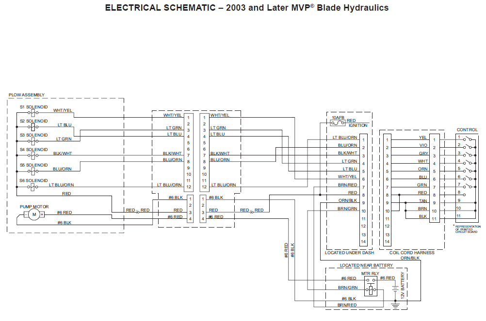 64085 mvp western / fisher unimount 0306 chevy gmc hb3hb4 12 pin control  wiring harness ezv plow