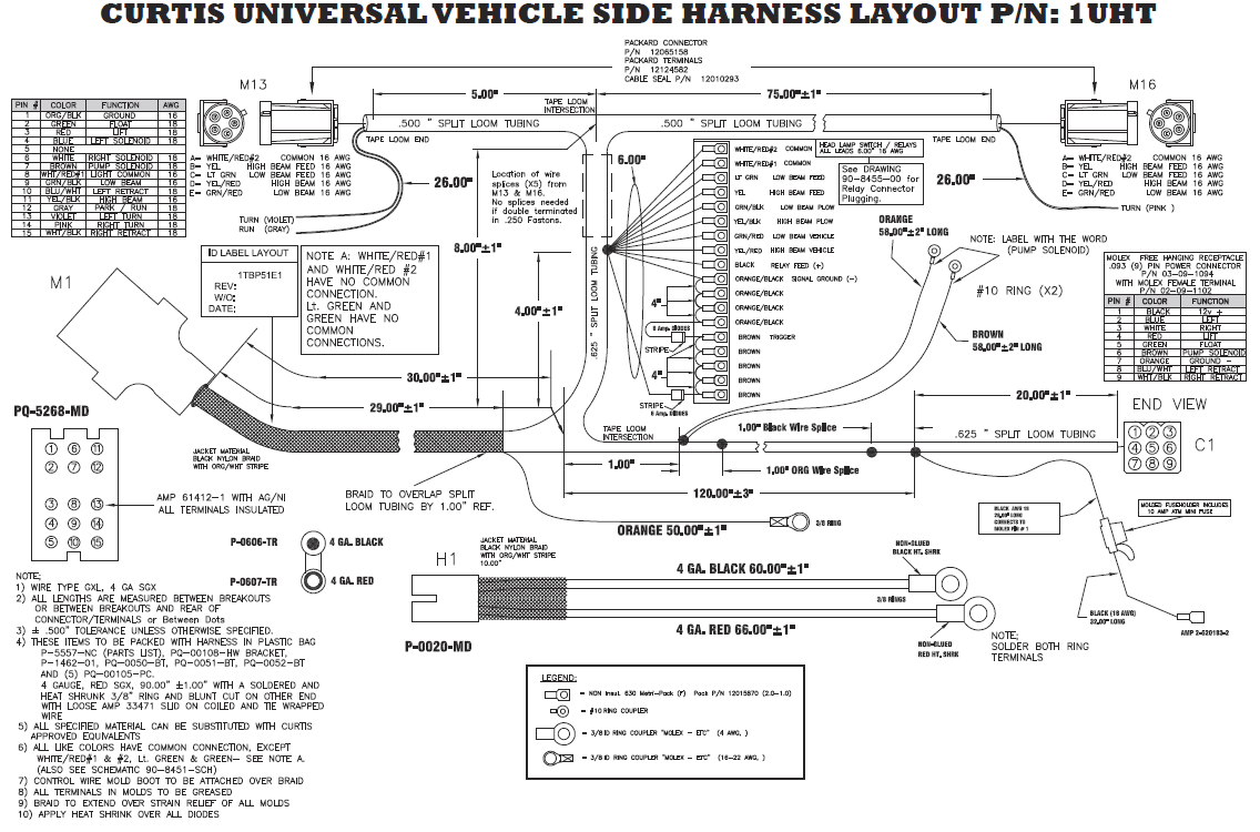 Curtis Truck side harness curtis snow plow wiring diagram wiring diagram and schematic design western snow plow light wiring harness at gsmportal.co