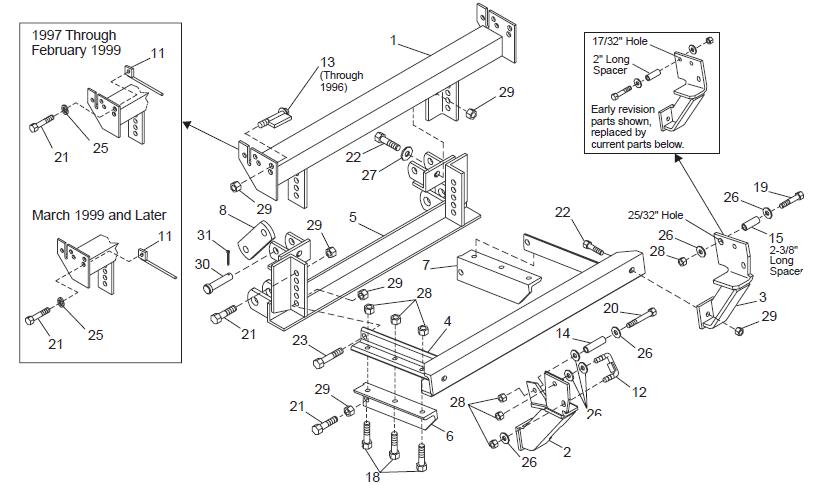 62020 / 62021 lower support brace 94-02 Dodge truck ...