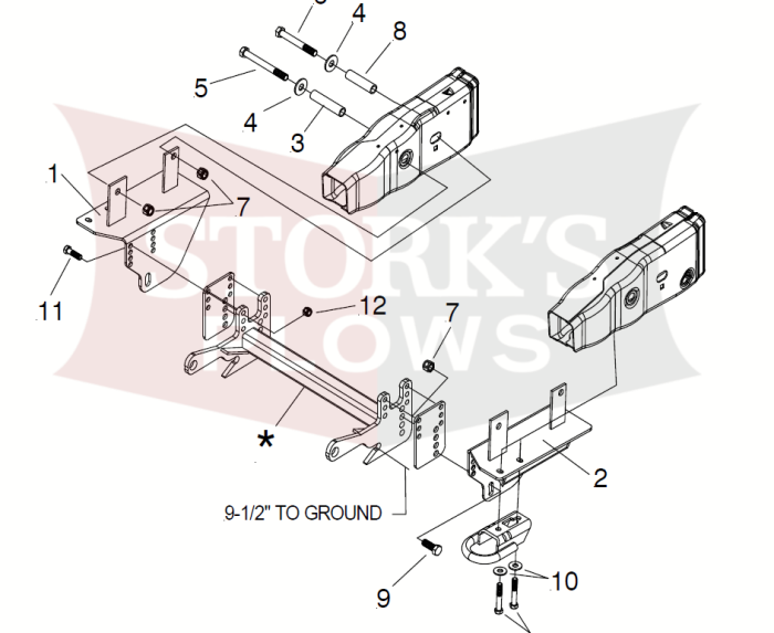 f 150 frame diagram 17192 meyer mdii plus mount 2015   later f 150 ford truck frame  17192 meyer mdii plus mount 2015