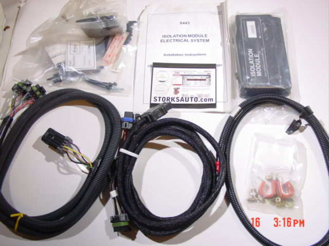 8443 Western Fisher 4 port 3 plug wiring kit isolation module truck side  light harness Kodiak Topkick GMC 4500 5500Storks Plows