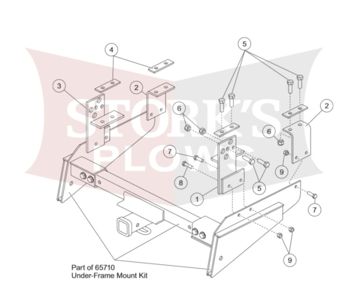 f 150 frame diagram 67450 western under frame mount brackets for proflo 2 ford super  western under frame mount brackets