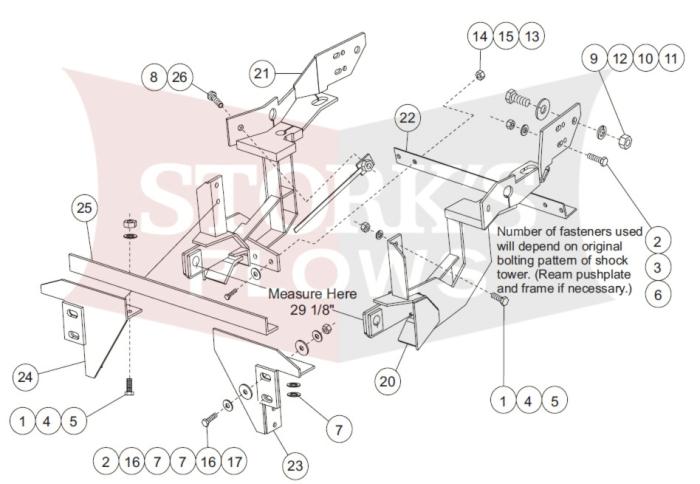 7128 1992-1998 Ford F250 F350 Truck Fisher Minute mount plow kitStorks Plows
