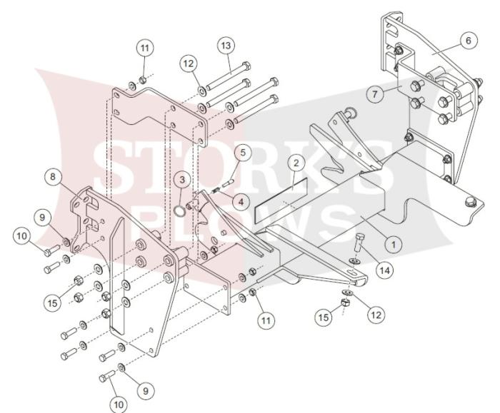 chevy c5500 headlamp wiring b30172 2003 2009 chevy gmc c4500 c5500 4x2 kodiak plow mount  2009 chevy gmc c4500 c5500 4x2 kodiak