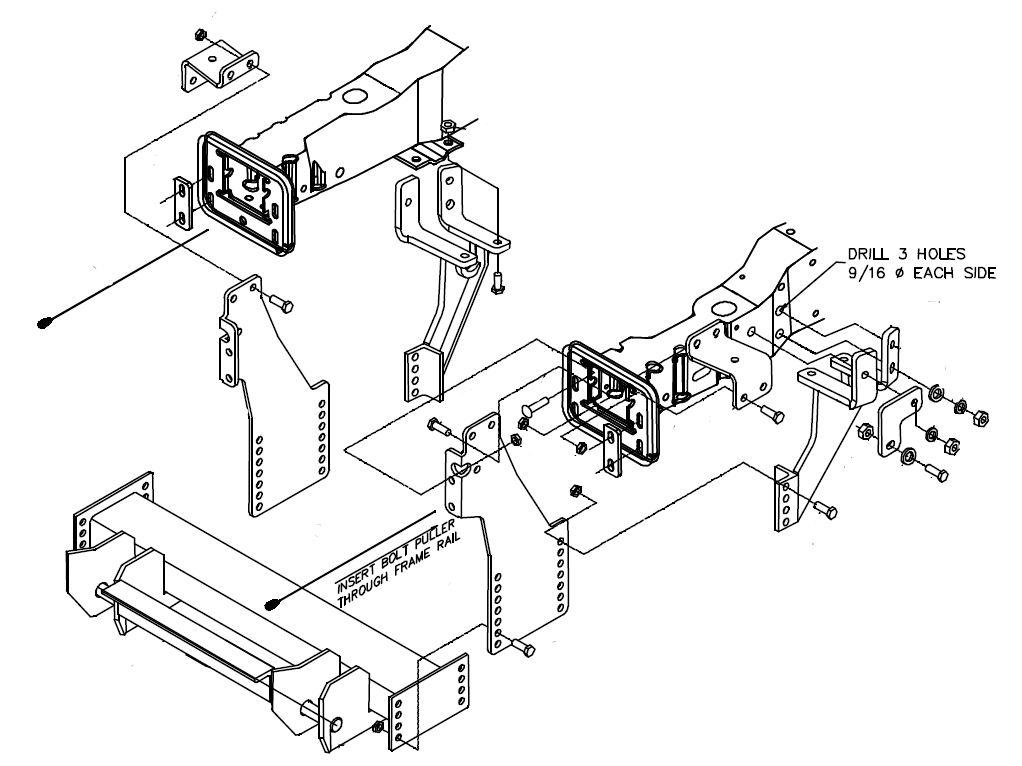 LTA02429C Boss RT2 Plow Mount 1999-2007 Ford Super DutyStorks Plows