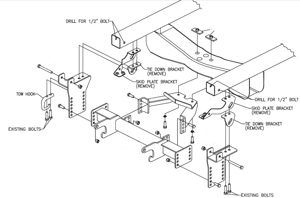 LTA05250 Boss Sport Duty Plow Mount 2000-2006 Toyota TundraStorks Plows